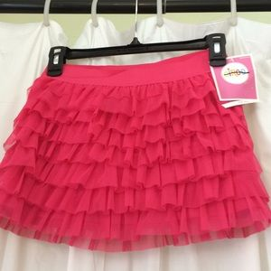 NWT Circo Tiered Pink Bounce Skirt Size L 10/12